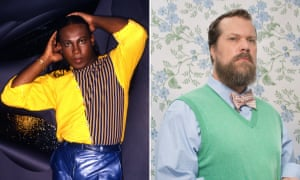 Now and then ... Sylvester in the 80s and John Grant in 2015.