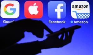 Google, Apple, Facebook and Amazon logos