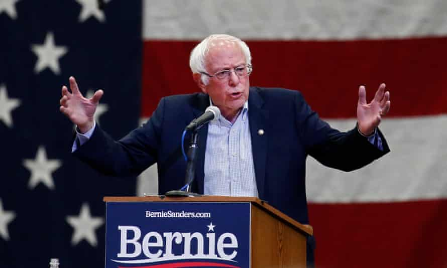 Bernie Sanders at a campaign rally in Mesquite, Texas
