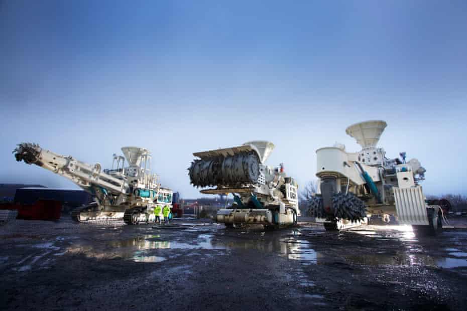 Vehicles used in a failed deep sea mining project off the coast of Papua New Guinea.