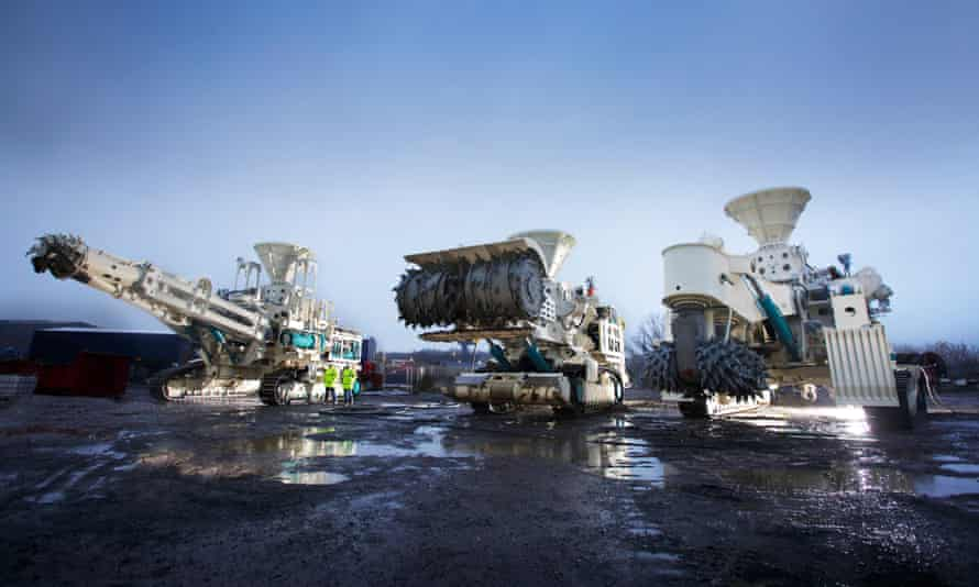 Machines intended for use in deep sea mining off the Papua New Guinea coast