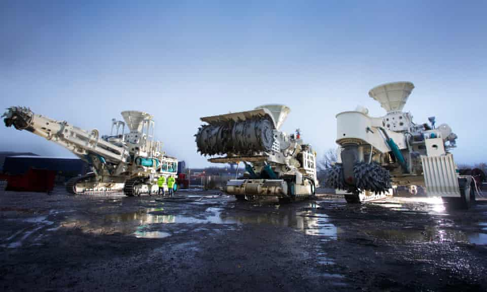 Cutting machines developed for deep-sea mining.
