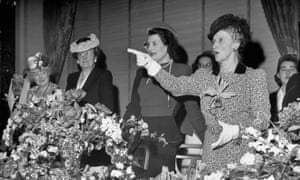 Nancy Astor (far right) in 1946. Astor was the first woman to sit in Parliament.