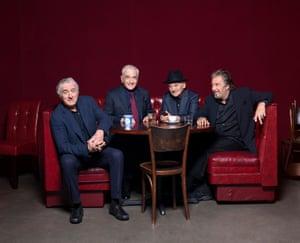 Robert De Niro (far left) and Al Pacino (far right) with Martin Scorsese (second left) and Joe Pesci