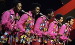 Dennis Edwards, second left, and the Temptations on Top of the Pops in 1972.