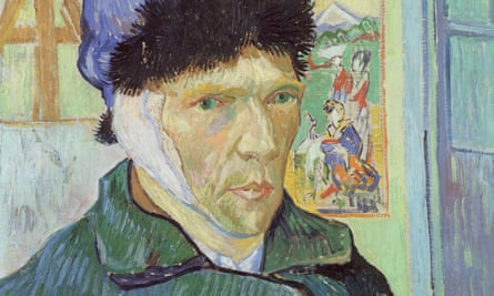 Self-portrait with bandaged ear, 1889, by Vincent van Gogh