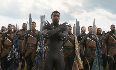 Chadwick Boseman as Black Panther, from the fictional country of Wakanda in Marvel films.