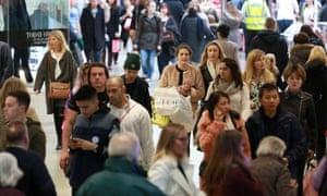 Shoppers in Southampton