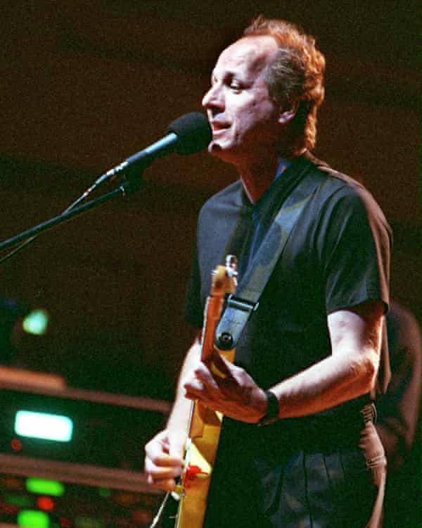 Adrian Below playing with King Crimson in 2000