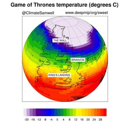 Temperature in degrees C