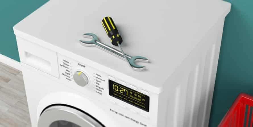 The door is often the problem on a washing machine.