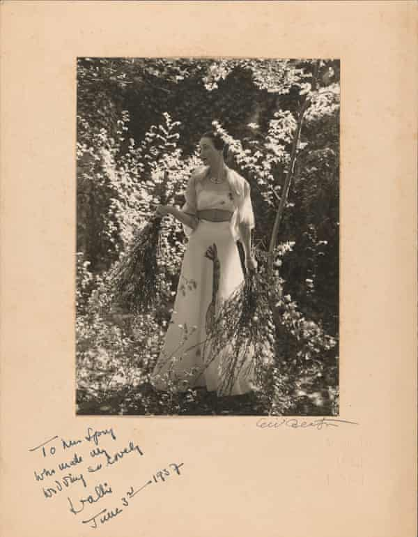 Wallis Simpson's thank you note to Constance Spry, 1937.