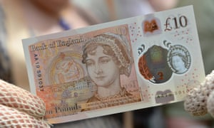 Jane Austen features on the new £10 note.