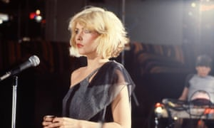 Debbie Harry on the set of Blondie's Heart of Glass video