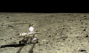 China's Yutu rover on the moon. The rover has identified the new basalt from a comparatively young lava flow.