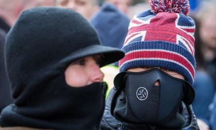 A Pegida UK march in Newcastle