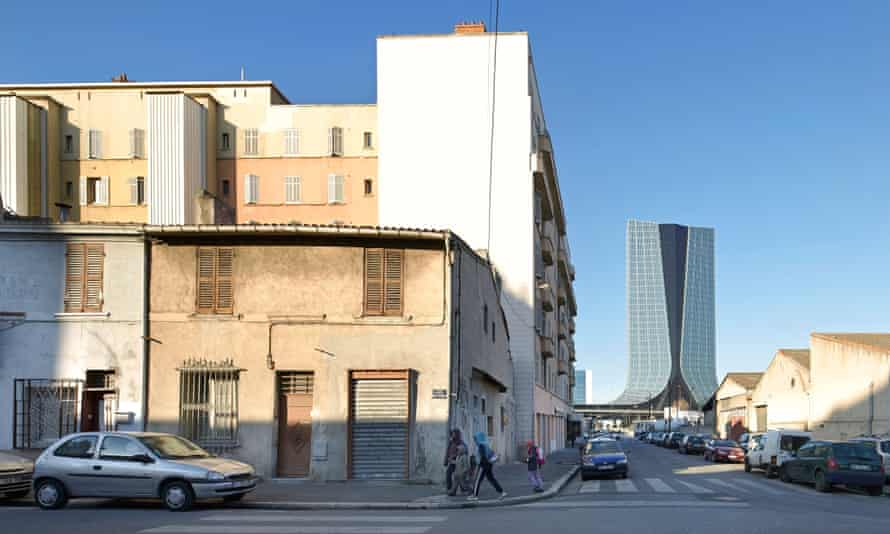 A tale of two cities ... the CMA/CGM office tower designed by Zaha Hadid.