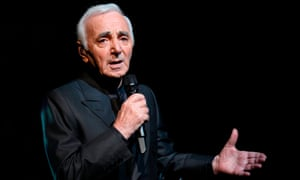 Charles Aznavour at the Olympia, Paris, in 2011.