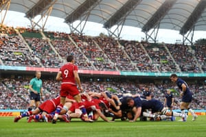 General view of a scrum