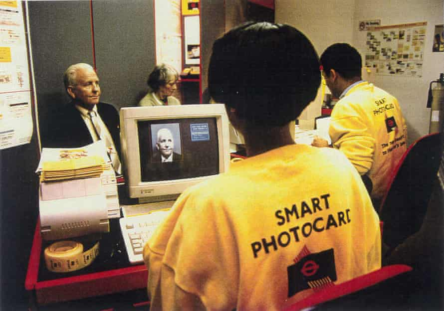 Issuing a smart photocard in 1994.