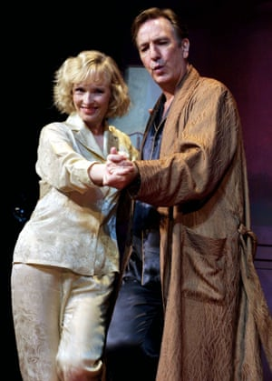 Alan Rickman with Lindsay Duncan in Private Lives.