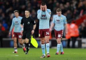 Despair for Conor Hourihane and his Villa teammates.