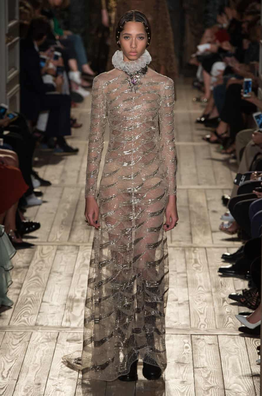 A look from Valentino's autumn couture show, the last that Chiuri designed before her move to Dior.