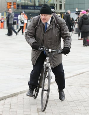 Bicycling Tory … Boris Johnson, when he was mayor of London.