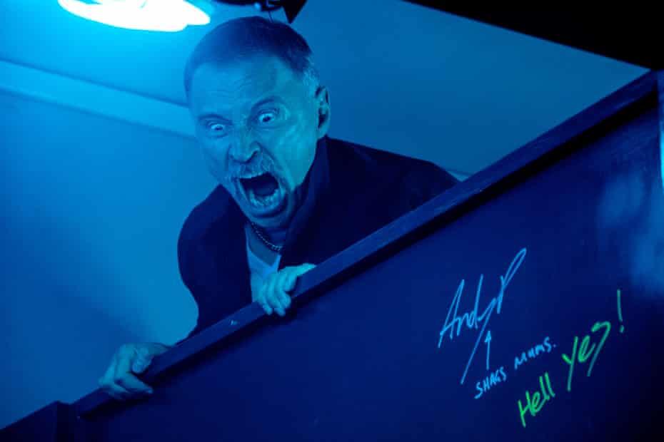 Robert Carlyle as Begbie in T2.