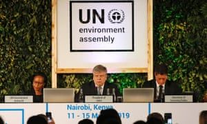 Estonian environment minister Siim Kiisler at the UN Environment Assembly