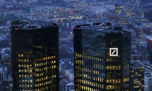 Deutsche Bank's headquarters in Frankfurt. It has 'no intent to settle these potential civil claims anywhere near the number cited'.