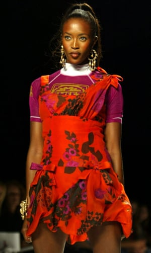 Naomi Campbell at an Anna Sui show, New York fashion week, 2003.