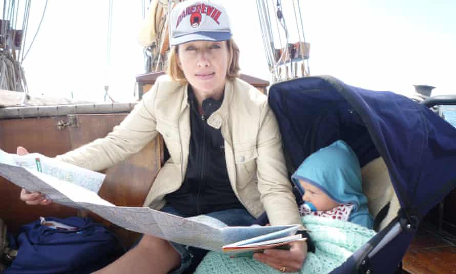 Bee Rowlatt with her son, Will, in Norway.
