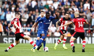 Fikayo Tomori (centre) during Chelsea's victory over Southampton at St Mary's on Sunday.