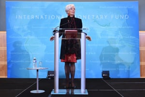 International Monetary Fund Managing Director Christine Lagarde speaks during a press conference at IMF headquarters on November 30, 2015 in Washington, DC. The International Monetary Fund welcomed China's yuan into its elite reserve currency basket on November 30, recognizing the ascendance of the Asian power in the global economy. AFP PHOTO/MANDEL NGANMANDEL NGAN/AFP/Getty Images