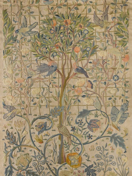 A tapestry designed by May Morris and embroidered by Morris and Theodosia Middlemore, c.1900.