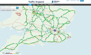 Highways England's live road information.