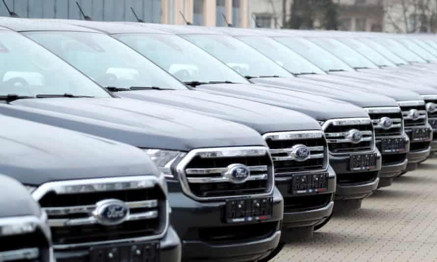 Row of Ford Ranger XTLs