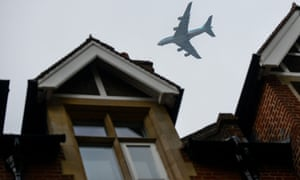Plane over west London