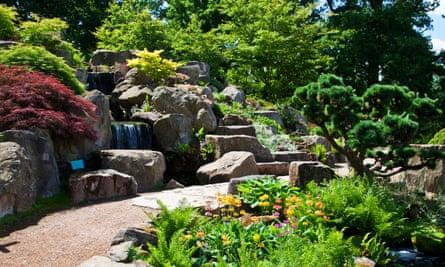 A rock garden at RHS Wisley, Surrey.