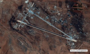 A US Department of Defense image showing the Shayrat airfield in Syria in 2016.