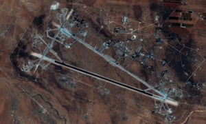 Image released by the US Department of Defense shows the Shayrat airfield in Syria.