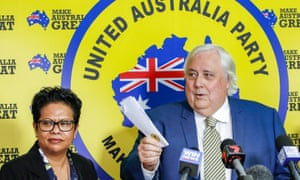 The Queensland Clive Palmer Senate candidate Yodie Batzke, pictured with Palmer in April, posted pictures on Facebook of a woman with a noose around her pregnant belly with an anti-abortion message.