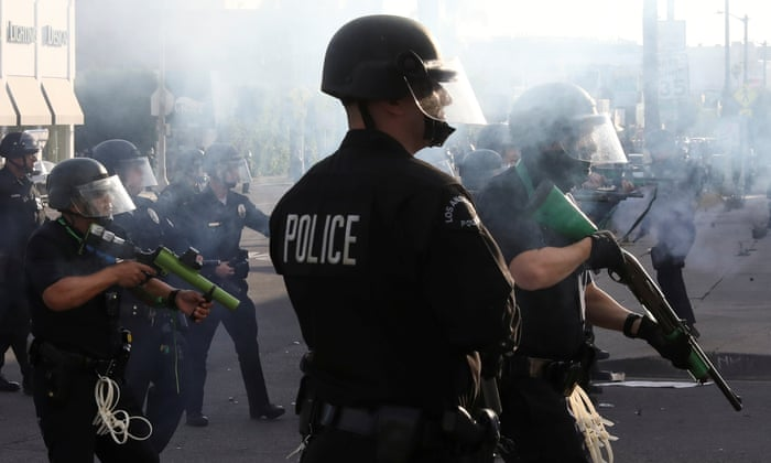 George Floyd: police forcefully crack down on protests across US ...