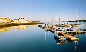 Portaferry's marina at the entrance to Strangford Lough.
