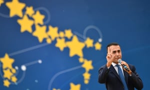 Italy's deputy prime minister and leader of the Five Star Movement Luigi Di Maio