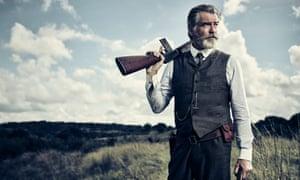 A man of a thousand accents … Pierce Brosnan as Eli McCullough in The Son.