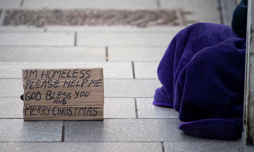 The government has set a goal of ending rough sleeping by 2004.