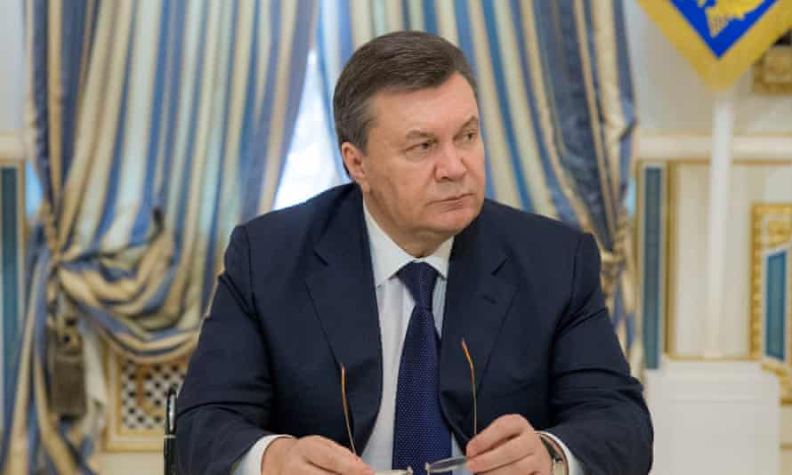 Viktor Yanukovych, then president of Ukraine, in 2014.