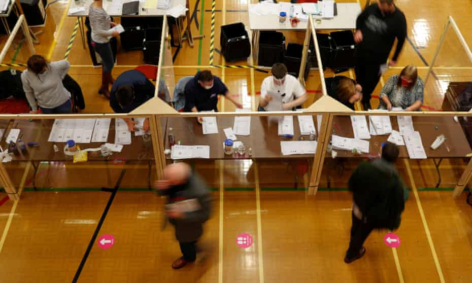 Ballots being counted at Mill House Leisure Centre in Hartlepool.